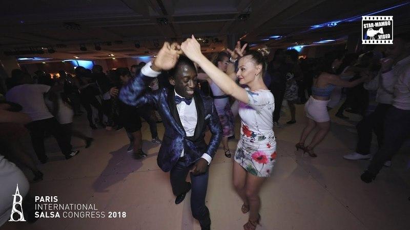 Mouaze Konaté Cozette social dancing @ PARIS INTL SALSA CONGRESS 2018