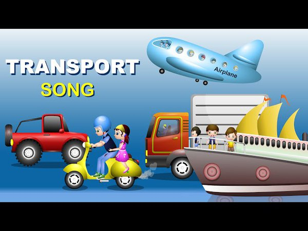 Modes of Transport for kids | Bus Songs For Kids | Nursery Rhymes and Children's Song