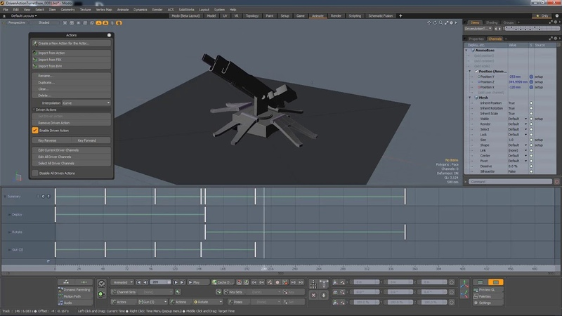 MODO 12.1 Driven Actions | Animation