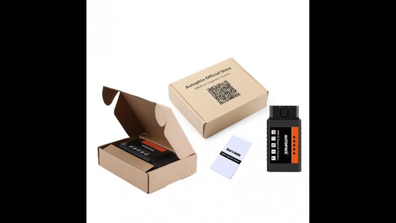 Универсальный OBD2 Bluetooth ELM327 V1.5 диагностический автосканер
