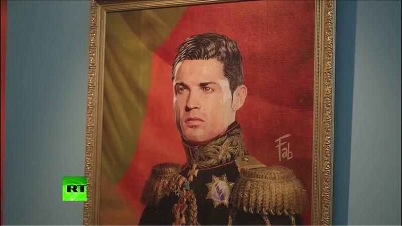 «Подобно богам»: в Петербурге открылась выставка портретов мировых звёзд футбола