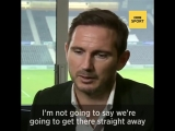 New Derby manager Frank Lampard has already received messages of support from some big names...