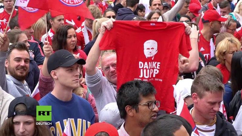 Deutschland Bayern Fans verabschieden sich von Trainer Jupp Heynckes