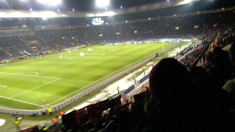 Шахтёр - Рома гостевая трибуна после гола Ундера