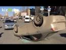 В Саратове перевернулся автомобиль с пожилым водителем