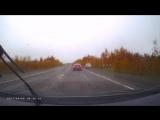 Авария с участием трех автомобилей в Усинске
