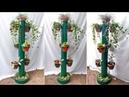 Подставка под цветы из пластиковой трубы Поделки для сада