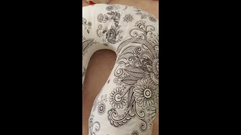 Подушка для беременных Пани Мама Подкова анатомическая в наволочке Узор