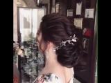 Очень красивая свадебная прическа