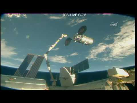 Departure of the Northrop Grumman Cygnus CRS-9 Cargo Craft from the International Space Station