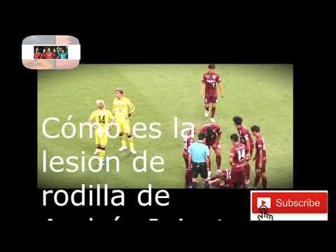 Cómo es la lesión de rodilla de Iniesta