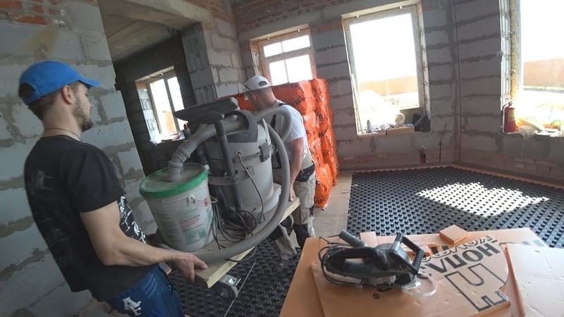 Штробление стен без пыли 100%. Штроборез, пылесос, циклон.