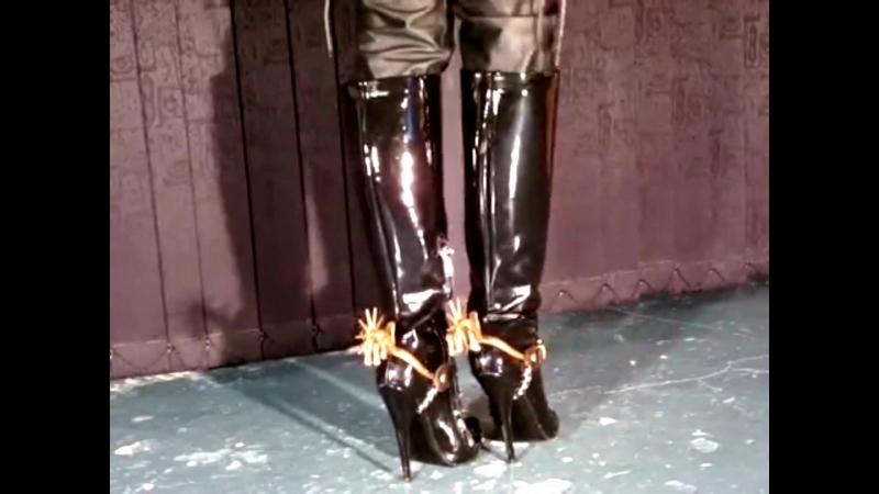 Cowgirl boots and spurs - YouTube