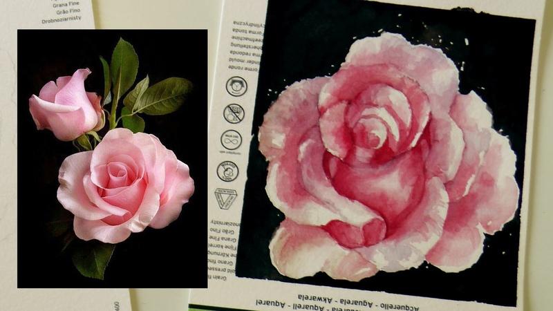 Acquerello Lezione n.34 : Come disegnare e dipingere una Rosa REALISTICA by ART Tv