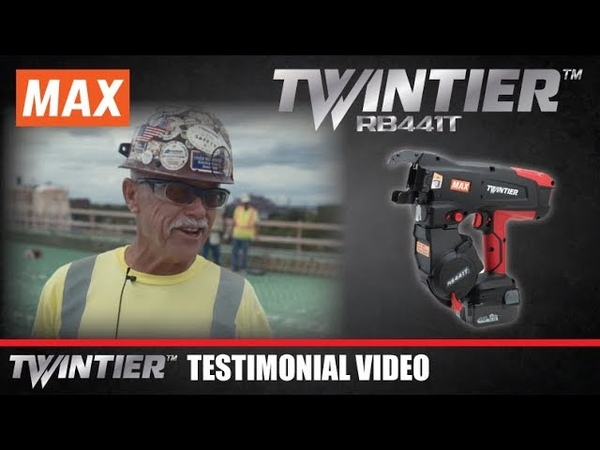 MAX TWINTIER RB441T Battery Operated Rebar Tying Tool Testimonial Video