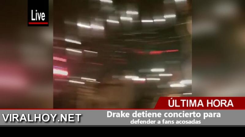 Drake detiene concierto para defender a fans acosadas