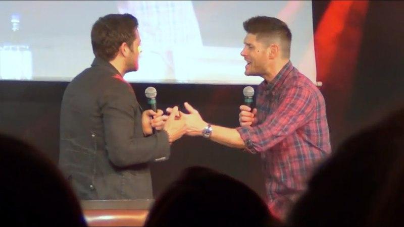 Jensen Ackles Misha Collins Sing Carry On Wayward Son . JIBcon 8