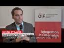 ÖIF Journalistenpreis Integration Verleihung mit Autor Simon Strauß
