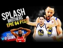 SPLASH Brothers EPiC 64 Pts in 2018 WCF Game 6 Golden State Warriors vs Rockets - 14 3's Combined!