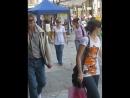 08-06-11 Girl blue sock crutches 2