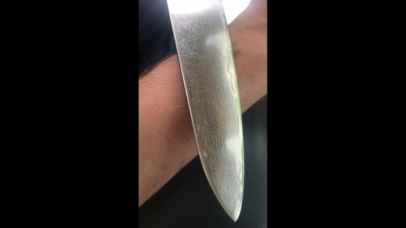 Поварской нож после заточки. Режет как бритва
