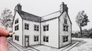 How to Draw a House in Perspective: Part Two: 2-Point Perspective
