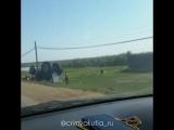 Около Тулагино трактор упал в кювет. 08.08.18г