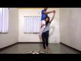 amazing strength of indian dance teacher