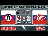 Spartak 2 Avtomobilist 4, 28 November 2017 Highlights