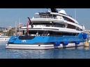 The AMAZING US$ 150,000,000 SUPER YACHT Madame Gu entering Antibes