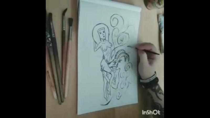 Анечка рисует 2