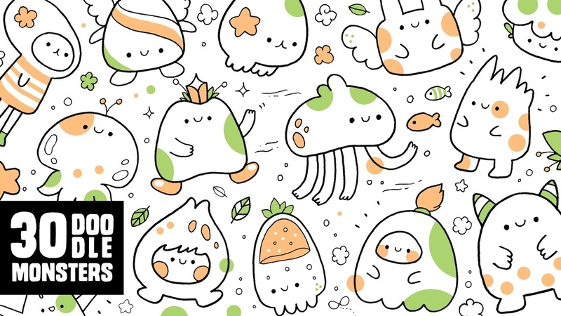 30 Cute Doodle Monsters | Kawaii Doodle Characters for Inspiration