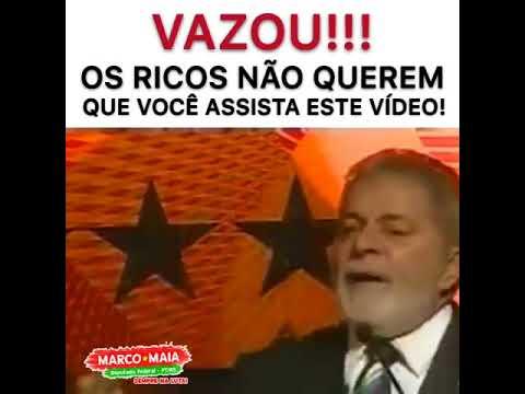 Vazou fala do Lula que constrange os ricos deste país