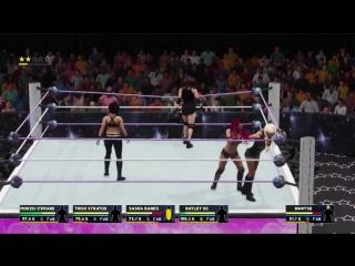 WWE 2K18 Princess Stephanie VS Bayley BCTrish 18SashaLanaMaryse Battle Royal Undisputed Title