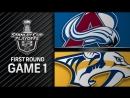 Forsbergs two goals lead Predators to 5 2 Game 1 win
