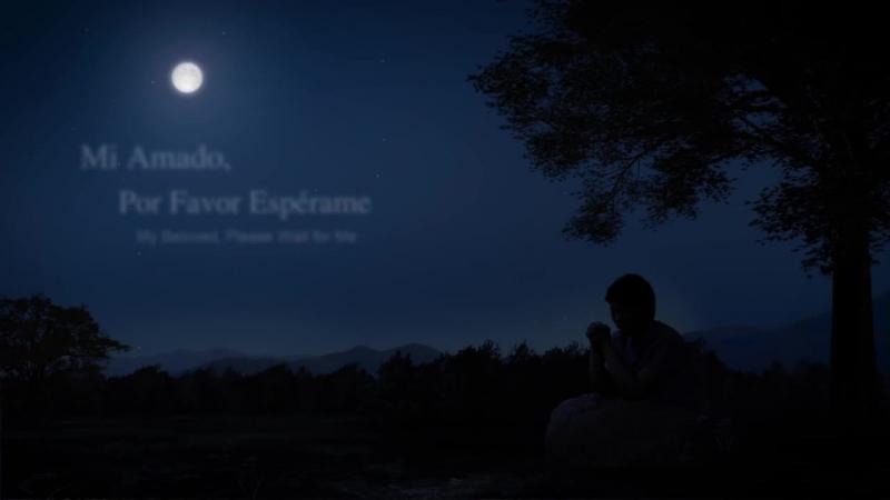 Mi amado, por favor espérame I Sobre los árboles se alza la bella luna, como mi amado, blanca y bella. Oh mi amor, ¿dónde estás?