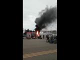 Пожар в олимпийском парке. #Сочи