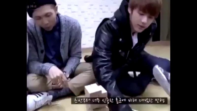 Seokjin playing jenga emits big dick energy