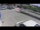 Видео с момента аварии на Индустриальной
