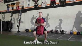 Sandbag Workout - bearhug squat