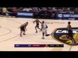 LeBron James with the hoop  harm vs Suns