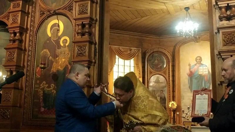 Чудотворная Мироточивая икона Св.Царя Николая прибыла 29.10.2017 на Литургию в день 97-летия монашеского пострига супругов Мурав
