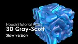 [Houdini Tutorial] 0023 3D Gray-Scott Pattern (Slow version)
