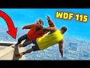 Gamewadafaq Приколы в GTA 5 WDF 115 Как спуститься с крыши