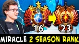 Miracle finished 2 SEASON calibration 100 accurate Dota matchmaking