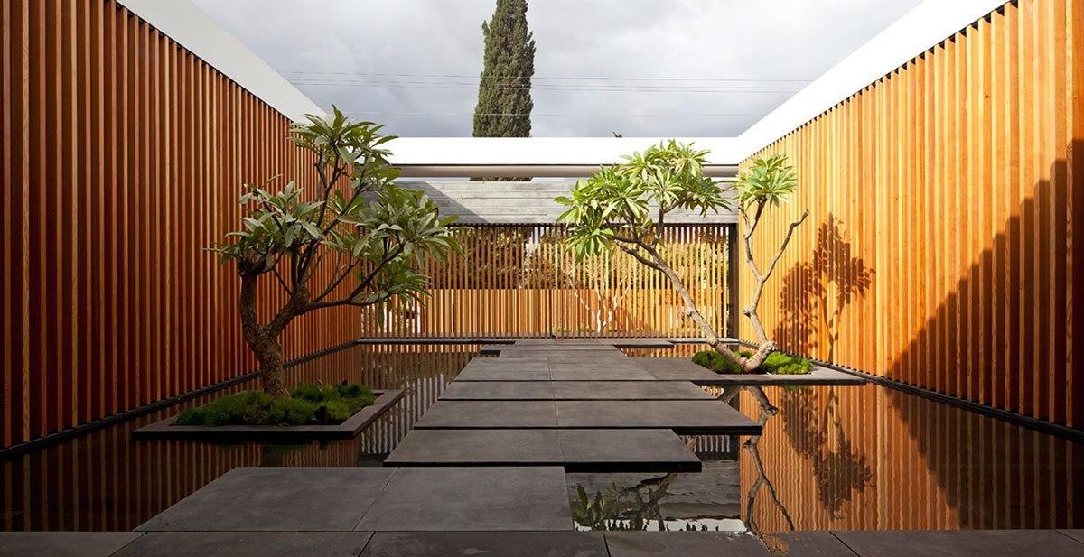Современный одноэтажный частный дом Float от студии Pitsou Kedem