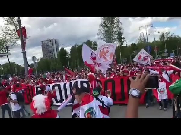 Torcida do Peru indo ao Estádio Copa do Mundo 2018