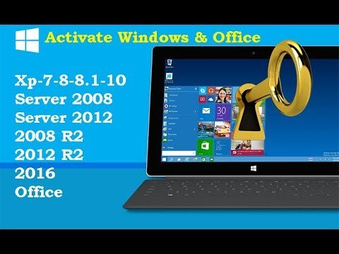 Activate Windows 10 [8.1-8-7-Vista-Xp-Server-Office] With one click For Free All Activators