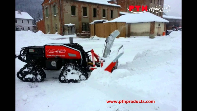 HYMOG with Snow Blower - remote controlled carrier vehicle