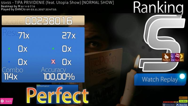 DANCI0 plays osu! HRHDDTPF - 55x55 - TIPA PRIVIDENIE (feat. Utopia Show) - [NORMAL SHOW] - SS 100